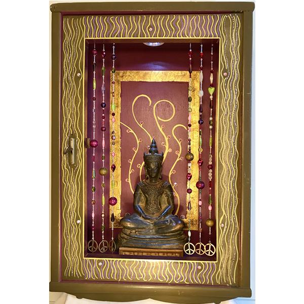 Temple d'intérieur en bois