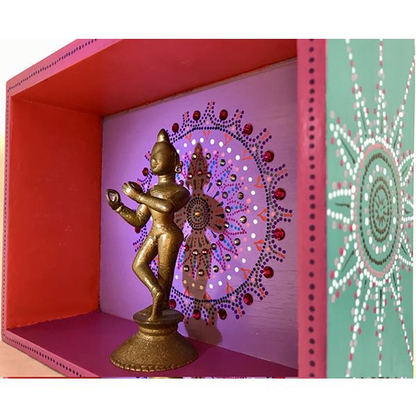 Temple d'intérieur en bois, temple décoratif